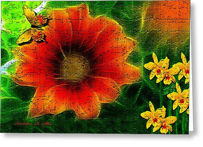 Smudgeart Greeting Cards - Pumpkin Orange Greeting Card by Madeline  Allen - SmudgeArt