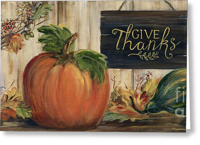 Pumpkin Panel Greeting Card by Marilyn Dunlap