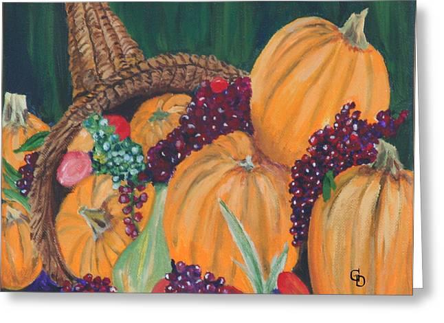 Gail Daley Greeting Cards - Pumpkin Plenty Greeting Card by Gail Daley