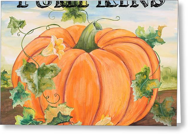 Locally Grown Greeting Cards - Pumpkins-jp3497 Greeting Card by Jean Plout