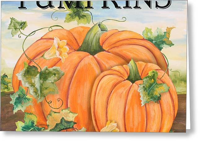 Locally Grown Greeting Cards - Pumpkins-jp3498 Greeting Card by Jean Plout