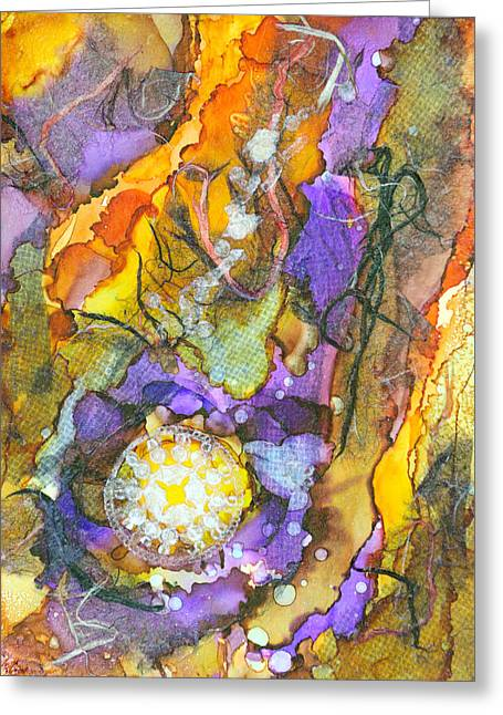 Lacy Collage Greeting Cards - Punch Line - C Greeting Card by Sandy Sandy