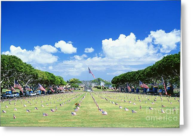 Afternoon Battle Greeting Cards - Punchbowl Cemetery Greeting Card by Vince Cavataio - Printscapes