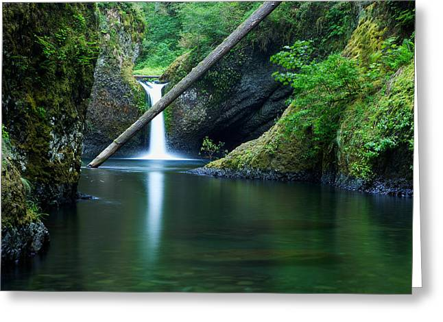 Oregon Waterfalls Greeting Cards - Punchbowl Falls Greeting Card by Eric Foltz