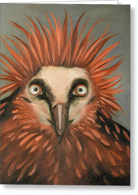 Punky Greeting Cards - Punk Greeting Card by Leah Saulnier The Painting Maniac
