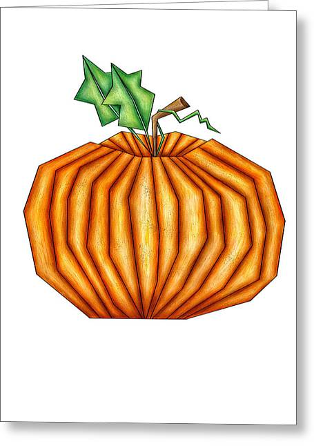 Bryant Greeting Cards - Punkin Greeting Card by Brenda Bryant