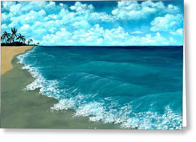 Meditation Drawings Greeting Cards - Punta Cana Beach Greeting Card by Anastasiya Malakhova
