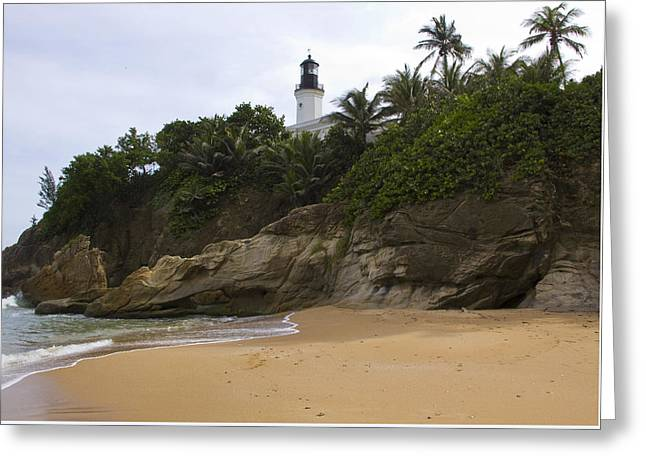 Reserve Greeting Cards - Punta Tuna Light House and Beach Reserve Puerto Rico Greeting Card by Stephen Carver