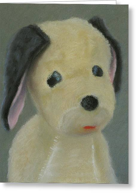 Puppies Pastels Greeting Cards - Puppy Greeting Card by Amy Tennant