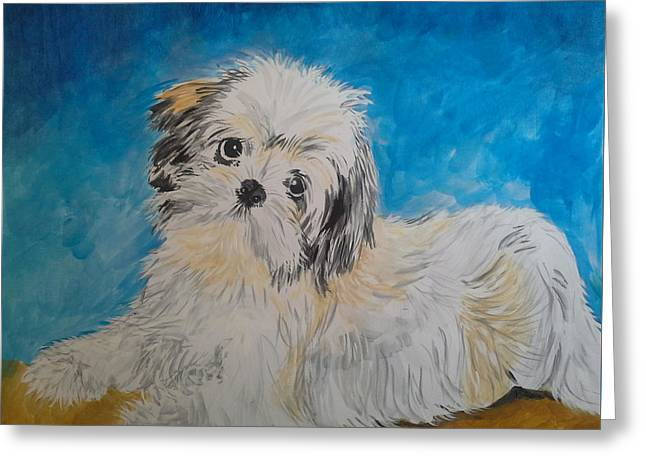 Doggies Greeting Cards - Puppy Greeting Card by Bobette Stanbridge