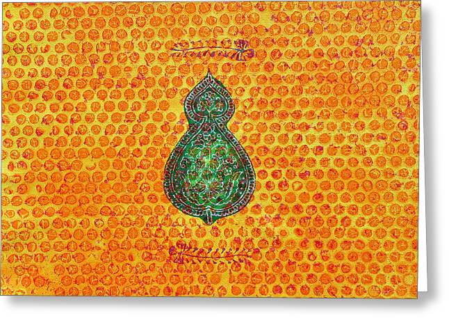 Block Printing Greeting Cards - Purabh Greeting Card by Sumit Mehndiratta