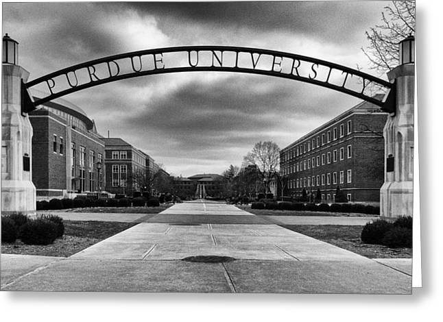 Purdue Entrance Sign Greeting Card by Coby Cooper