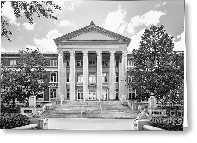 Public Administration Greeting Cards - Purdue University Hovde Hall Greeting Card by University Icons