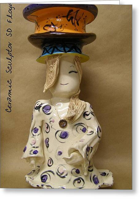 Ceramic Ceramics Greeting Cards - Pure Bliss Greeting Card by Sandi Floyd