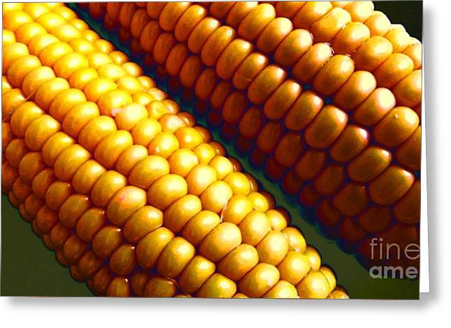 Greeting Cards - Pure Corn Greeting Card by Zizi Lagadec