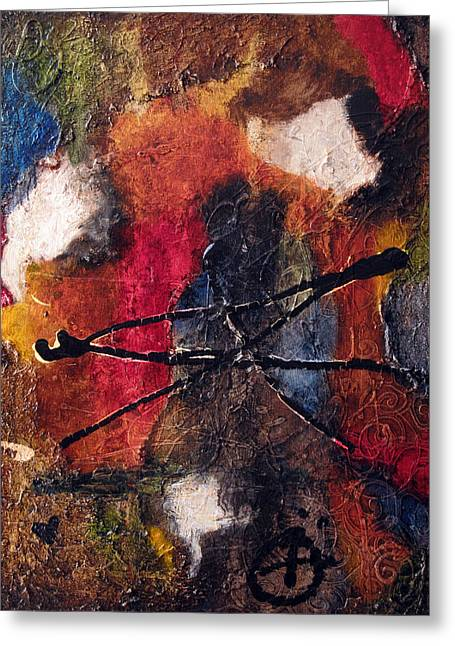Oil Reliefs Greeting Cards - Pure Emotion Greeting Card by Jill English