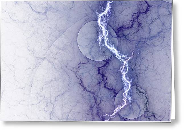 Storm Digital Greeting Cards - Pure energy Greeting Card by Martin Capek