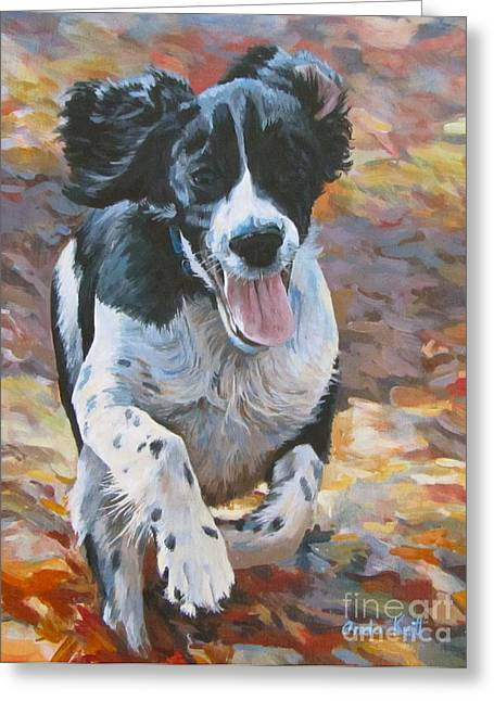 Spaniel Greeting Cards - Pure Fun Greeting Card by Anda Kett