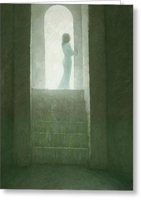 Figurative Greeting Cards - Pure Light Greeting Card by Steve Mitchell