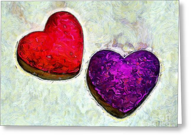 Pure Love Greeting Card by Krissy Katsimbras