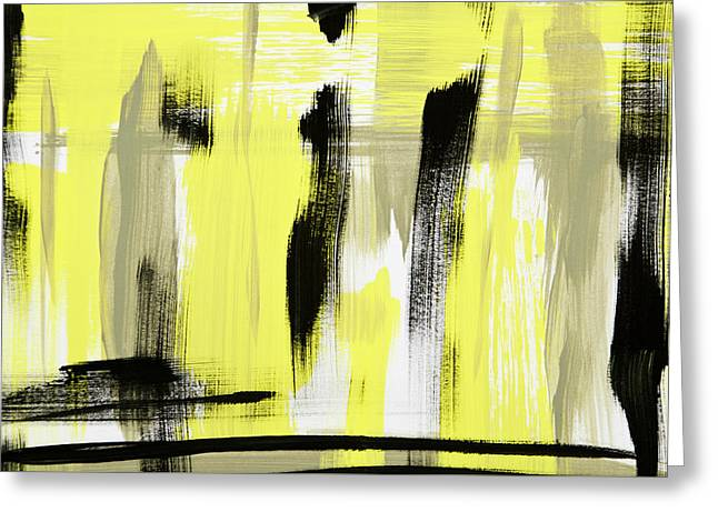 Lemon Art Greeting Cards - Pure Spirit Abstract Greeting Card by Christina Rollo