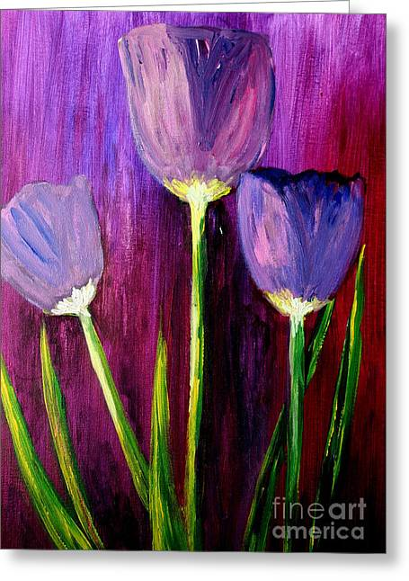 Purely Purple  Greeting Card by Julie Lueders