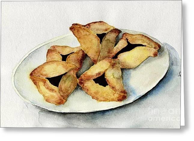 Purim Cookies Greeting Card by Annemeet Hasidi- van der Leij