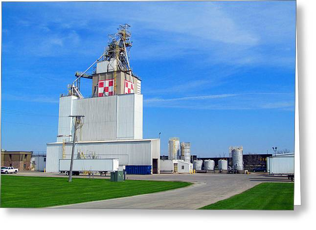 Local Food Greeting Cards - Purina Factory Greeting Card by Tina M Wenger