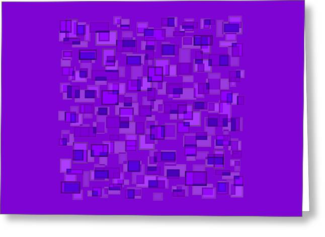 Purple Abstract Greeting Card by Frank Tschakert