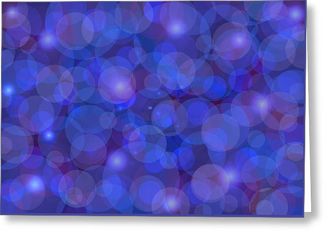 Purple Abstract Greeting Cards - Purple And Blue Abstract Greeting Card by Frank Tschakert