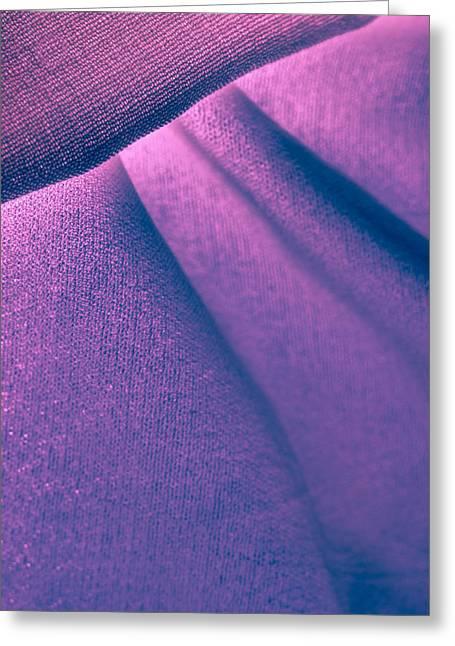 Manual Greeting Cards - Purple and Bold Greeting Card by Yogendra Joshi