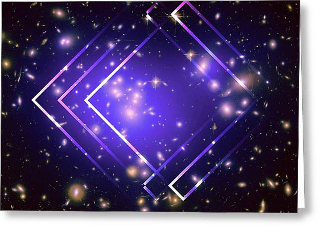 Purple Angles In Space Greeting Card by Brandi Fitzgerald