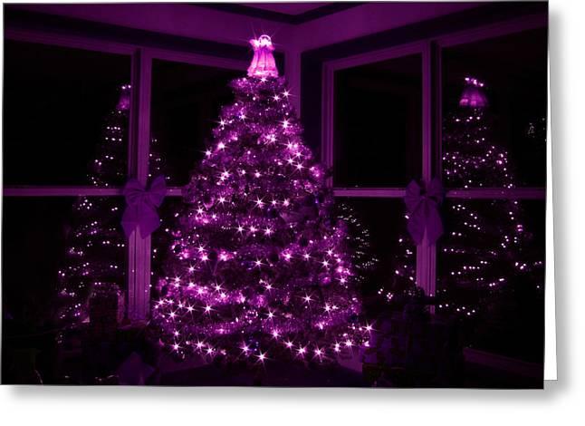 Purple Christmas Greeting Card by Lori Deiter
