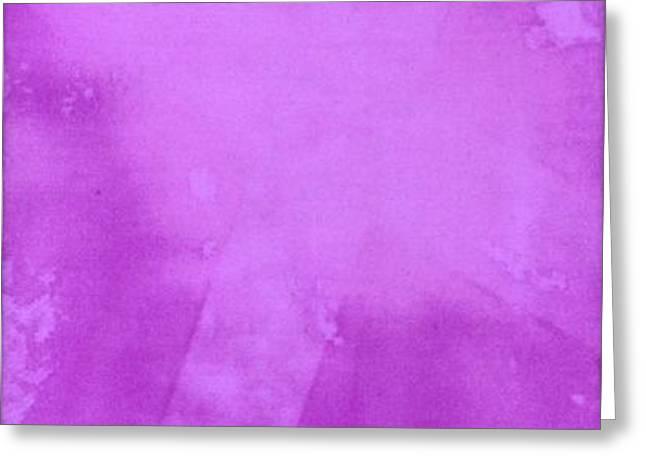 Purple Cross Greeting Card by Brandi Webster