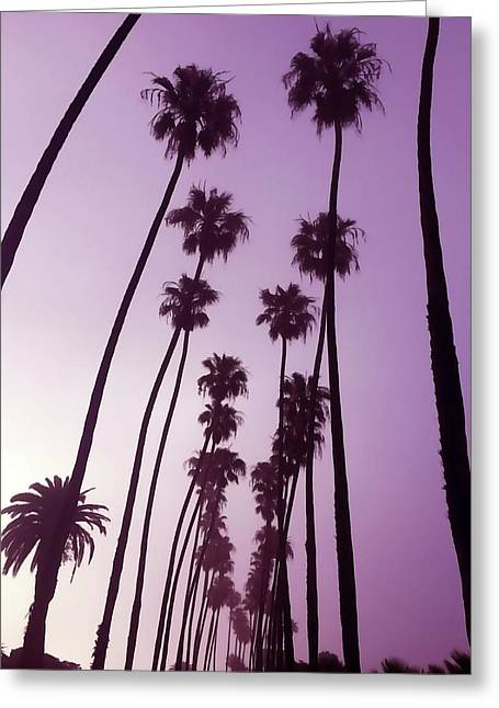 Purple Dawn Greeting Card by Art Block Collections