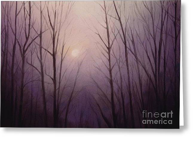Artist Curtis James Art Pastels Greeting Cards - Purple Dawn Greeting Card by Curtis James