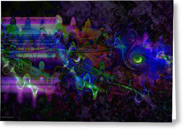 Fineartamerica Greeting Cards - Purple Dream Greeting Card by Linda Sannuti