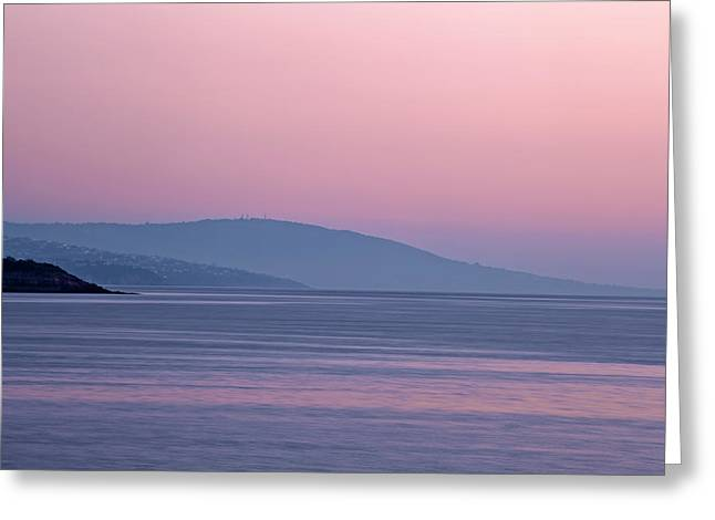 Cliffs Over Ocean Greeting Cards - Purple Dusk at Mornington Peninsula Australia Greeting Card by Greg Brave