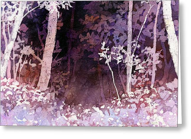 Purple Forest Greeting Card by Hailey E Herrera