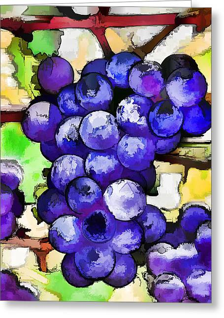 Purple Grapes Greeting Card by Lanjee Chee