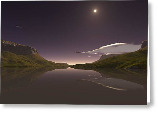 Terragen Greeting Cards - Purple Haze Greeting Card by Diane McCool-Babineau