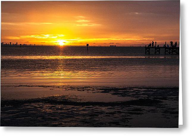 Tidal Photographs Greeting Cards - Purple Haze Greeting Card by Norman Johnson