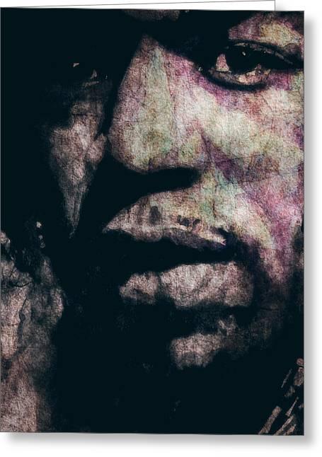 Singer Songwriter Digital Art Greeting Cards - Purple Haze Greeting Card by Paul Lovering