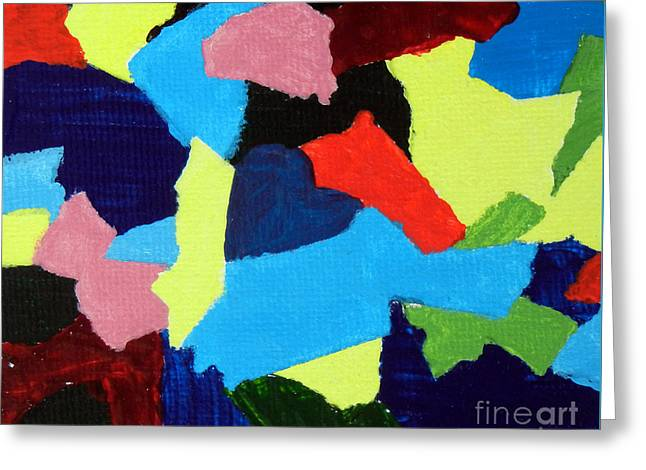 Green Abstract Greeting Cards - Purple Heart Abstract #1 Greeting Card by Ryan Wood