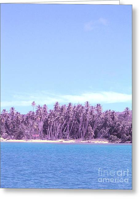 Purple Island Greeting Card by Barbara Marcus