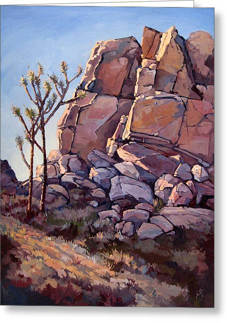 Joshua Tree National Park Greeting Cards - Purple Joshua Greeting Card by Erin Hanson