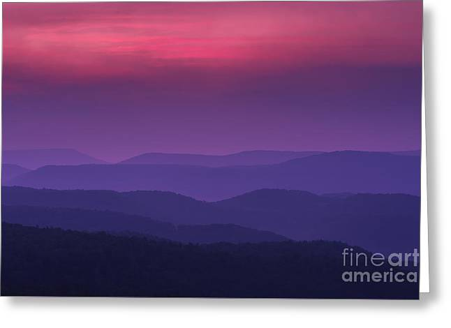 Colorful Cloud Formations Greeting Cards - Purple Mountain Majesties Greeting Card by Thomas R Fletcher