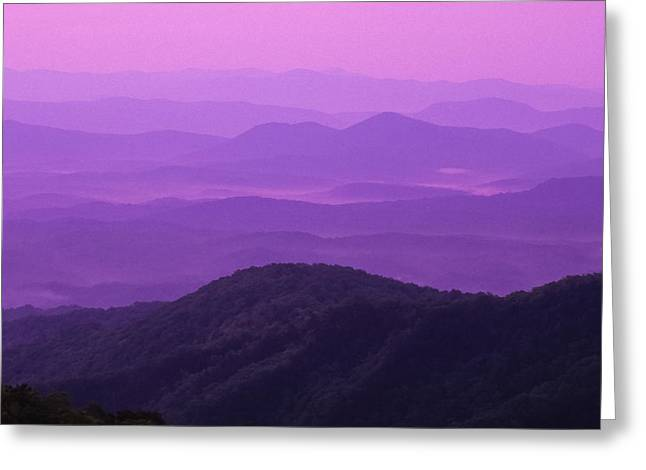 Gradations Greeting Cards - Purple Mountains Greeting Card by Joye Ardyn Durham