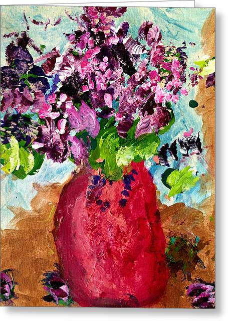 Purple My Lilacs Greeting Card by Empowered Creative Fine Art