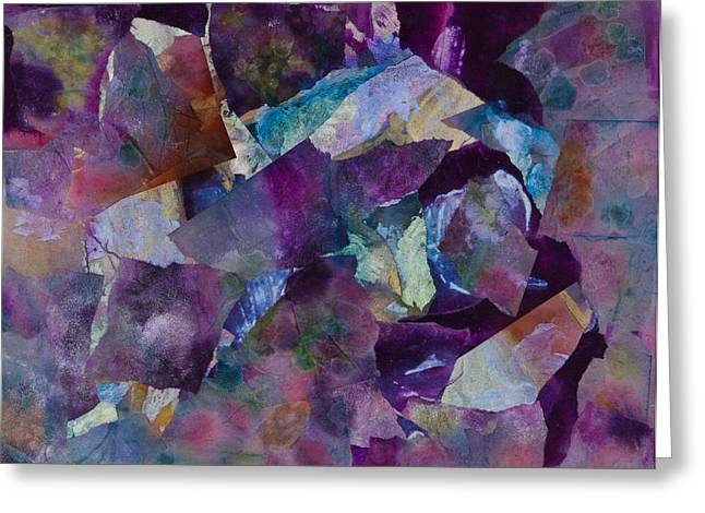 Oil Slick Greeting Cards - Purple Passion  Greeting Card by Don  Wright